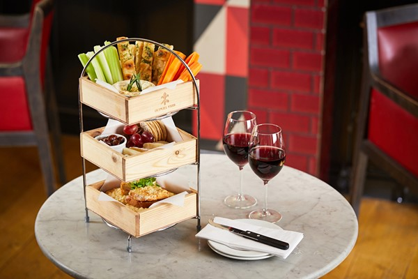 Cheese Lovers Afternoon Tea with Wine for Two at Cafe Rouge