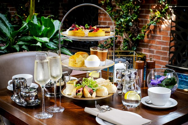 Afternoon Tea with Bottomless Bubbles for Two at Grosvenor Pulford Hotel and Spa
