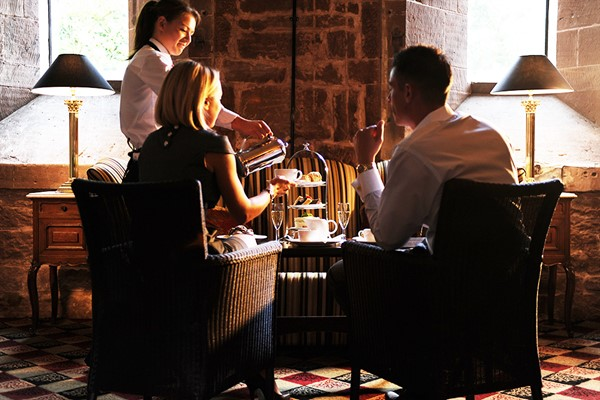 Afternoon Tea with Bubbles for Two at Peckforton Castle