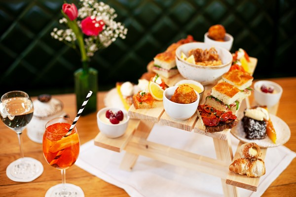 Afternoon Tea with Bottomless Bellinis for Two at Theo's Simple Italian