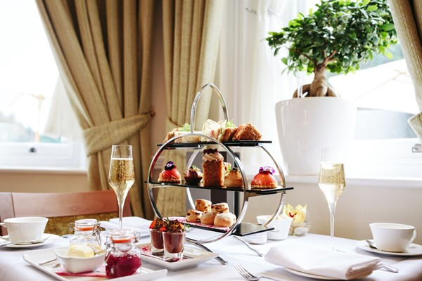 Afternoon Tea with Champagne for Two at Oakley Hall Hotel