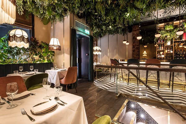 Three Course Meal and Glass of Wine for Two at Zuaya London