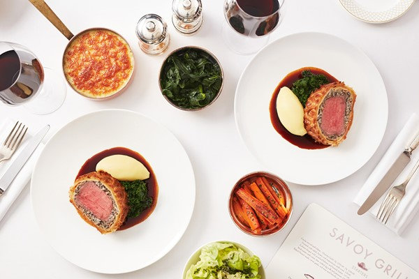 Seven Course Tasting Menu for Two at Gordon Ramsay's Savoy Grill, London
