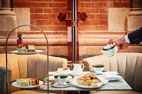 Traditional Afternoon Tea for Two at The Hansom in 5* St Pancras Renaissance Hotel