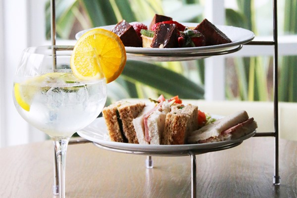 Afternoon Tea with Gin and Tonic for Two at The Wild Pheasant Hotel and Spa
