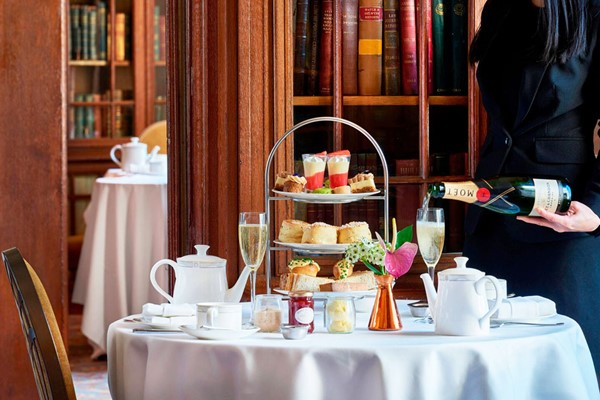 Champagne Afternoon Tea in The Library, London Marriott Hotel County Hall for Two