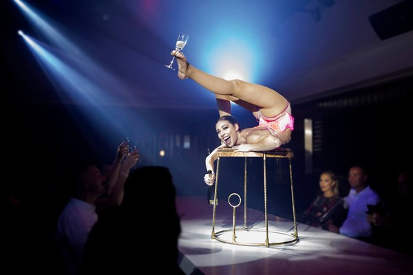 Pop up Circus Entertainment and Three Course Set Menu with Prosecco for Two at Circus