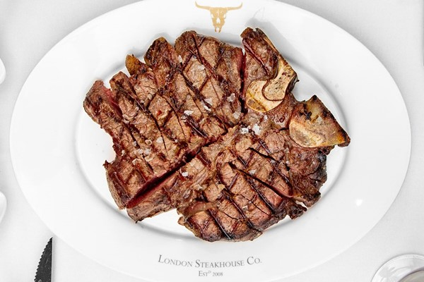 24oz Porterhouse Steak To Share With Unlimited Fries And A Cocktail For Two At London Steakhouse Co
