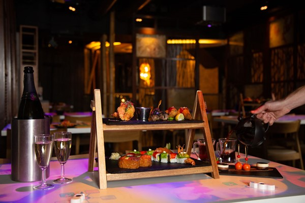 Sushi and Asian Tapas Afternoon Tea with Bottomless Bubbles for Two at Inamo