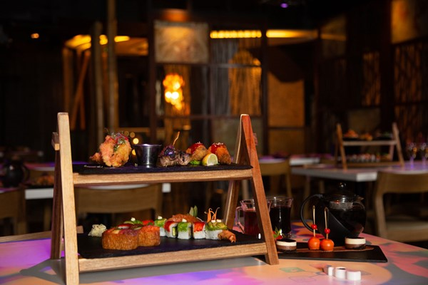 Sushi and Asian Tapas Afternoon Tea for Two at Inamo