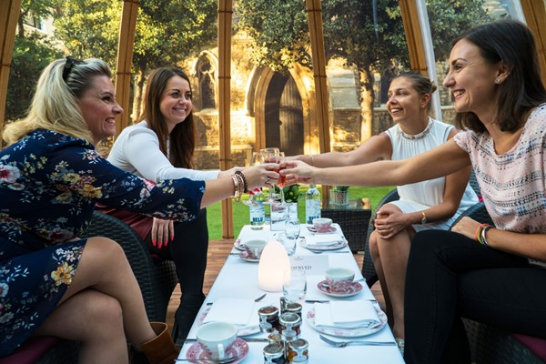 Champagne Afternoon Tea for Four in The Domes at London Secret Garden Kensington