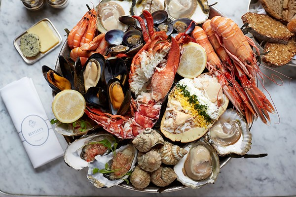 Royal Seafood Sharing Platter with a Glass of Champagne for Two at Bentley's Oyster Bar & Grill