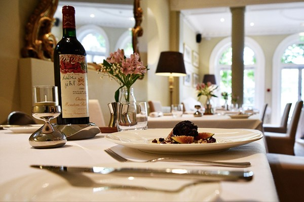 Three Course Meal with a Glass of Wine Each at Cotswold House Hotel