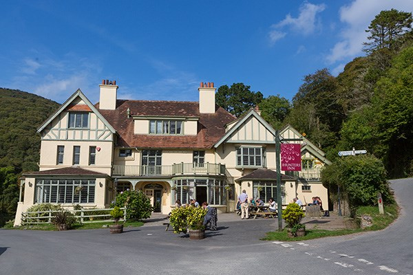 Overnight Stay for Two with Breakfast and Dinner at The Hunters Inn, North Devon