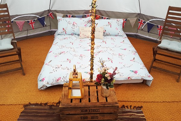 Overnight Stay in a Bell Tent for Two at Yapham Holds