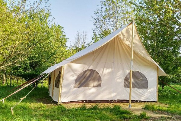 One Night Stay in Canvas Lodge with Hot Tub and Fizz at Woodland Escape