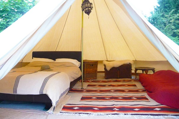 One Night Stay in Bell Tent for Two at Woodland Escape