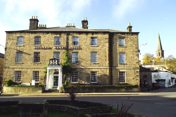 One Night Break with Dinner at The Rutland Arms Hotel