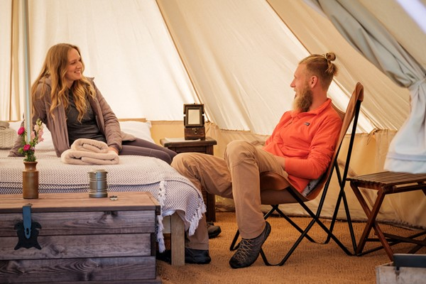Two Night Glamping in the Cotswolds with a Hot Tub and Choice of Activities for Two at Wild Carrot