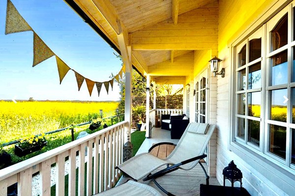 Overnight Break with a Bottle of Sparkling Wine for Two at Angel Cottage Log Cabins