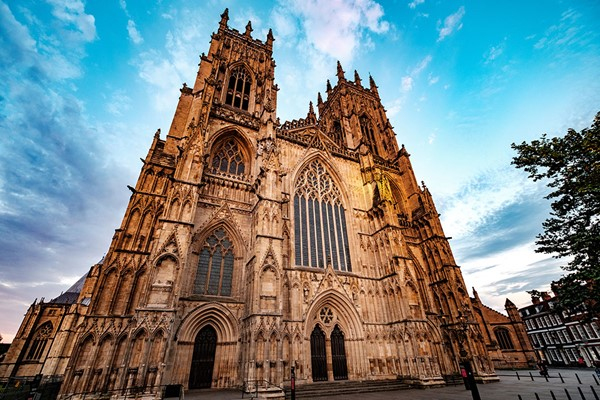 Blue skies over York's historical attractions