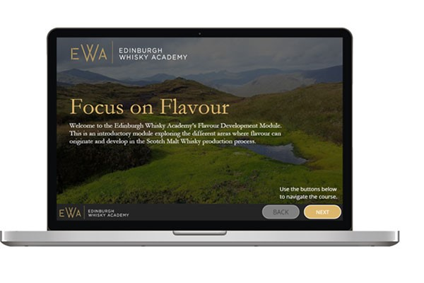 Online Single Malt Scotch Whisky 'Focus on Flavour' Course for One