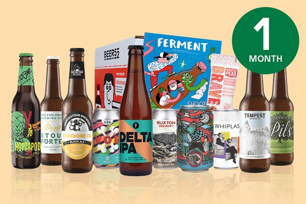 One Month Ten Pack of Beer Subscription to Beer52 for One