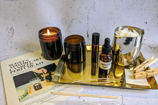 Luxury Aromatherapy Candle, Perfume and Body Oil Kit for One