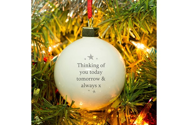 Personalised 'Our Star in Heaven' Memorial Bauble