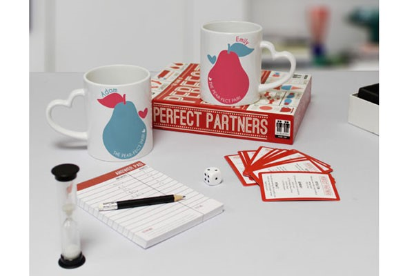 Perfect Partners Game Set with Personalised Mugs