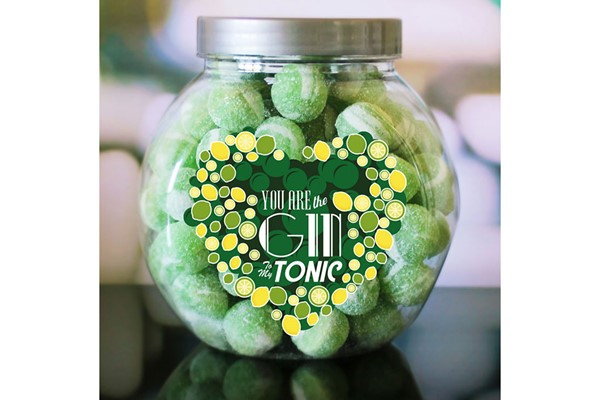 Personalised You Are the Gin to My Tonic Sweet Jar
