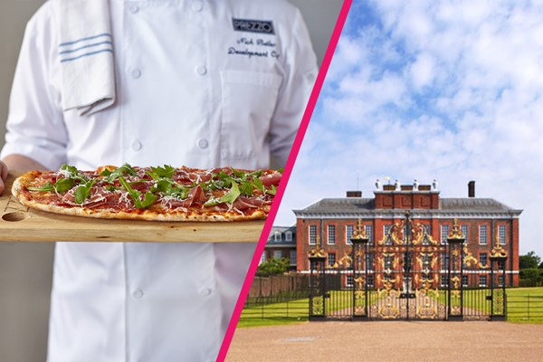 Kensington Palace Entry and Three Course Dinner with Fizz at Prezzo for Two