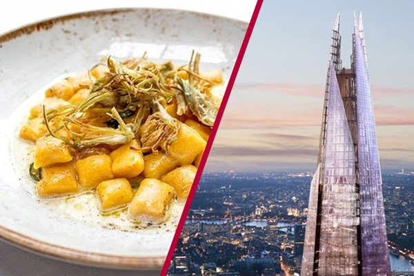 The View from The Shard with 3 Course Michelin Meal and Bubbles for Two