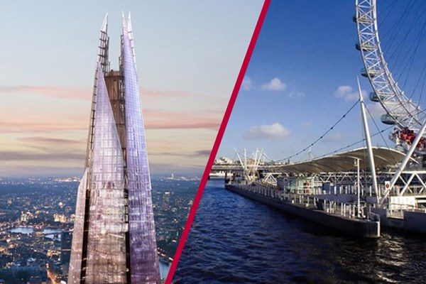 The View From The Shard With Thames Sightseeing Cruise For Two   Special Offer