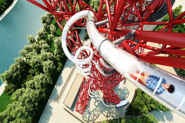 Person in The ArcelorMittal Orbit slide