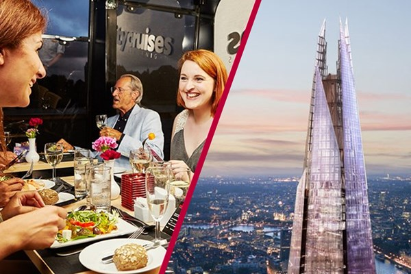 Shard Tickets and Thames Cruise with Lunch