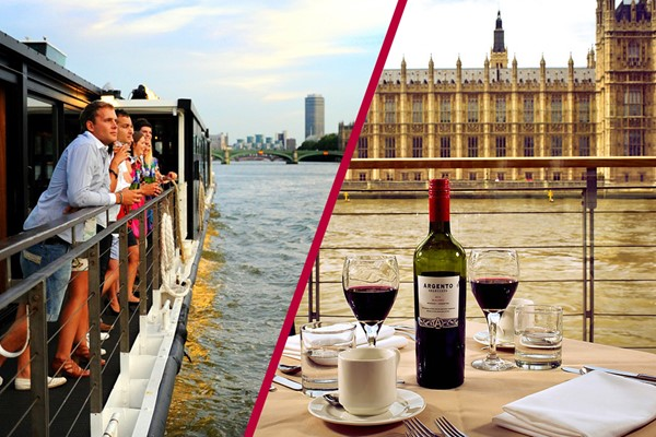 Coca-Cola London Eye Tickets and Bateaux Lunch Cruise with Wine for Two