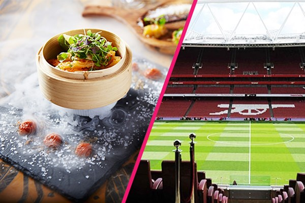 Arsenal Emirates Stadium Tour with Three Course Meal and Cocktails for Two at Shaka Zulu