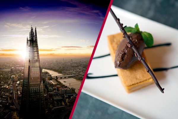 The View From The Shard with Three Course Dinner at Hotel Chocolat's Rabot 1745