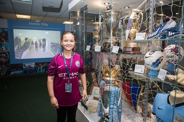 Child Tour of Manchester City Stadium
