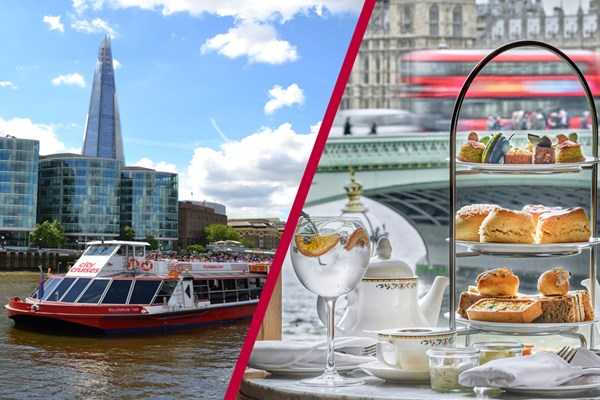 River Cruise and Bottomless Gin Afternoon Tea at London Marriott County Hall