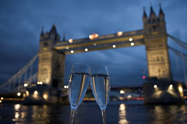 Bateaux Signature Dinner Cruise with Wine on the Thames for Two