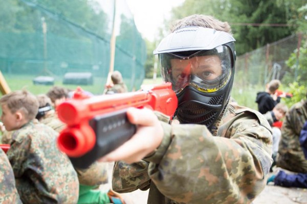 Low Impact Paintballing for Six at The Zap Combat Centre