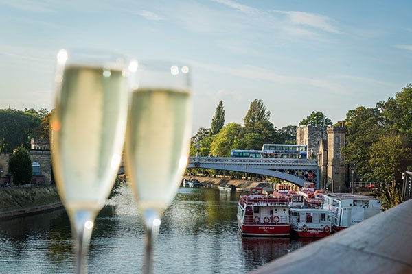 Floodlit Evening York River Cruise with Prosecco for Two