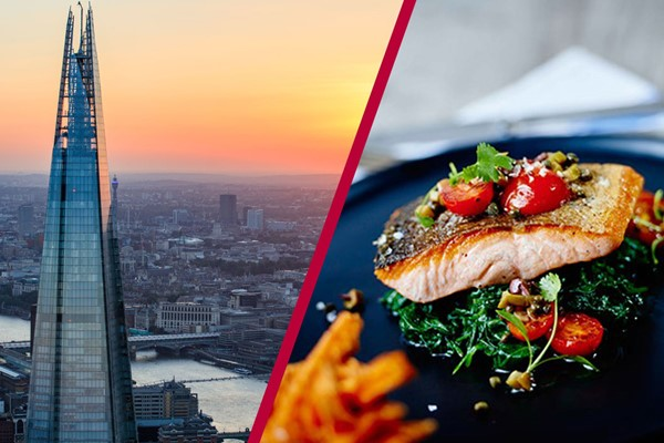 The View From The Shard With 3 Course Dining And Bubbles For Two