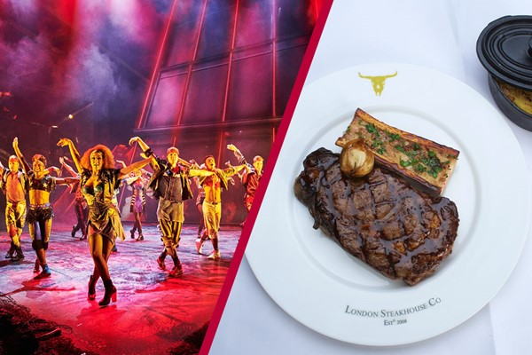 Upper Circle Theatre Show and Two Course Meal at Marco Pierre White Steakhouse Co