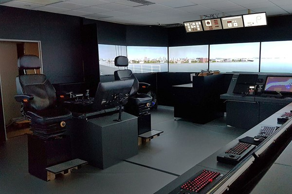 Ship Simulator Experience for Two Adults and Two Children