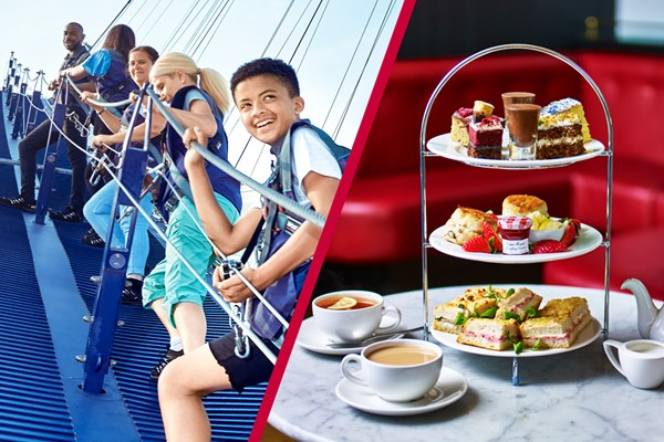 Up At The O2 Climb And Afternoon Tea At Caf