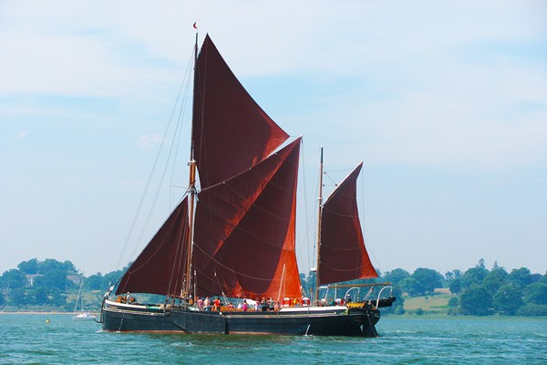 Thames Sailing Barge Lunch Cruise for Two in Essex