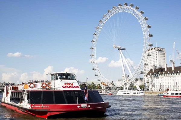 Lunch Cruise on the Thames with Moet and Chandon Champagne for Two